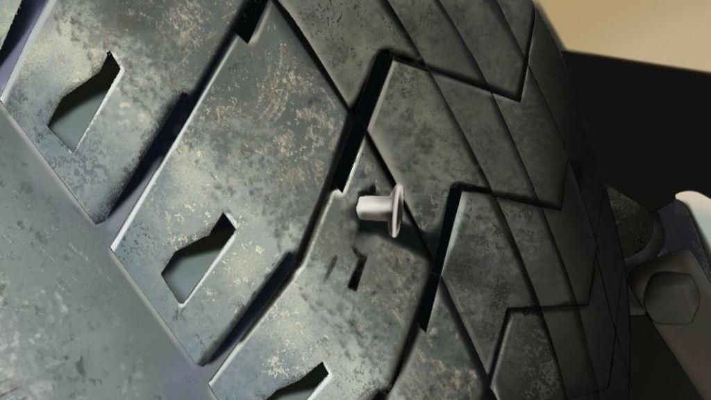 Intenta faltar al trabajo con una foto mal 'photoshopeada', haciendo creer a su jefe que tenía la rueda pinchada