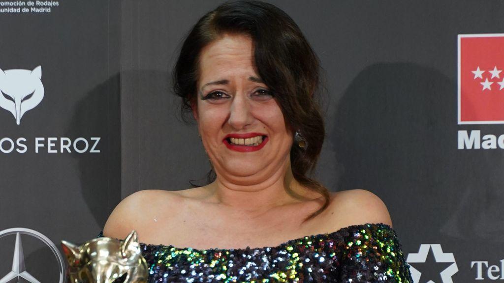 """Yolanda Ramos rompe a llorar al recibir el Premio Feroz: """"Es muy duro ser cómica y ser mujer"""""""