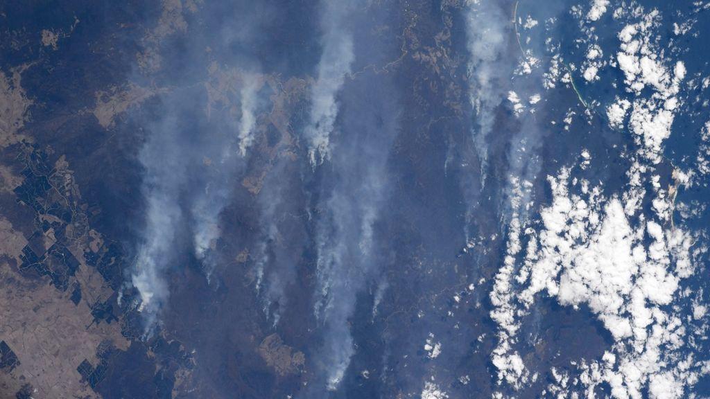 Una astronauta captura unas impresionantes imágenes de los incendios de Australia desde el espacio
