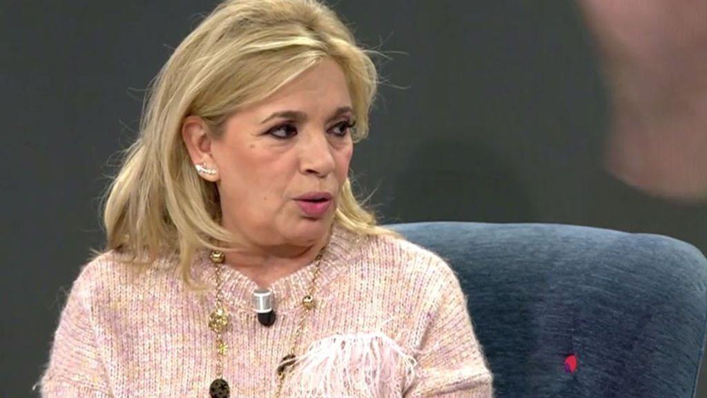 """Carmen Borrego responde a las críticas que ha recibido tras su exclusiva: """"No me esperaba tanto"""""""