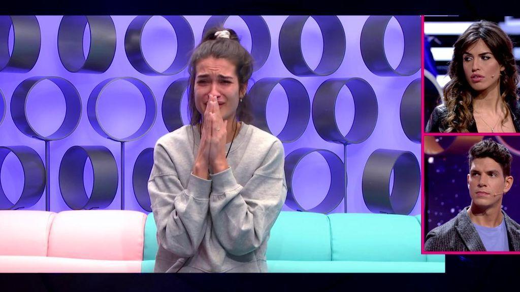 Estela sale en defensa de Kiko en una discusión con Hugo y después llora por lo que pueda pensar Diego