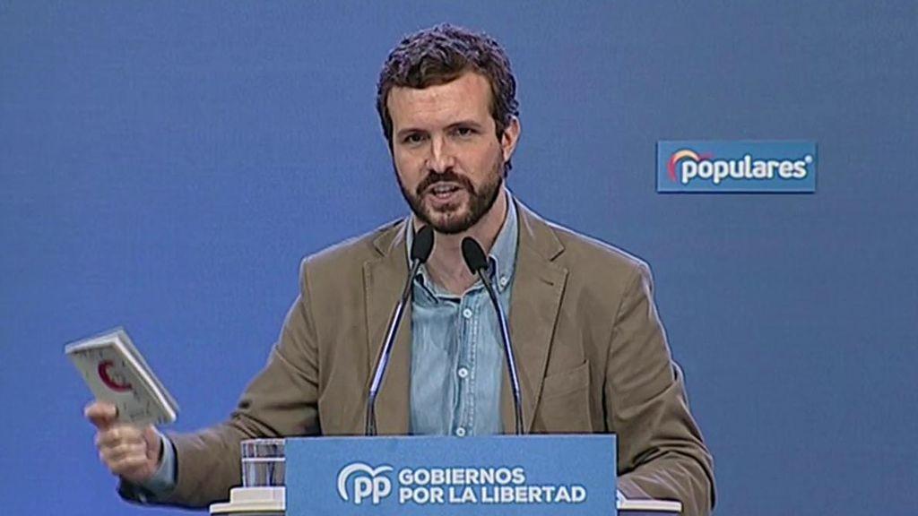 """Pablo Casado sobre el 'pin parental': """"No va a venir ningún socialista ni ningún comunista a educar a mis hijos"""""""