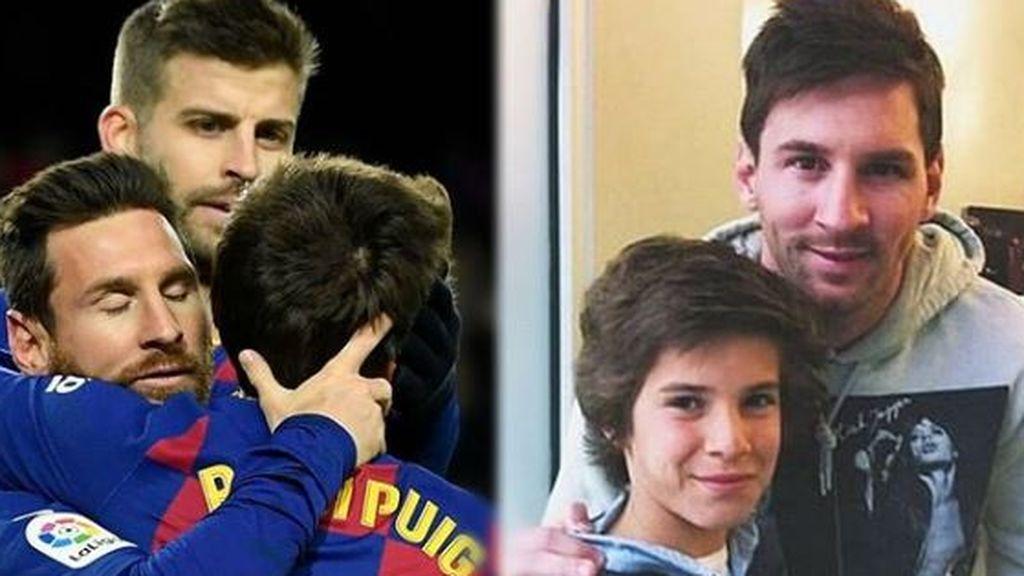 """La imagen viral de Riqui Puig de niño junto a Messi: """"Los sueños se hacen realidad"""""""