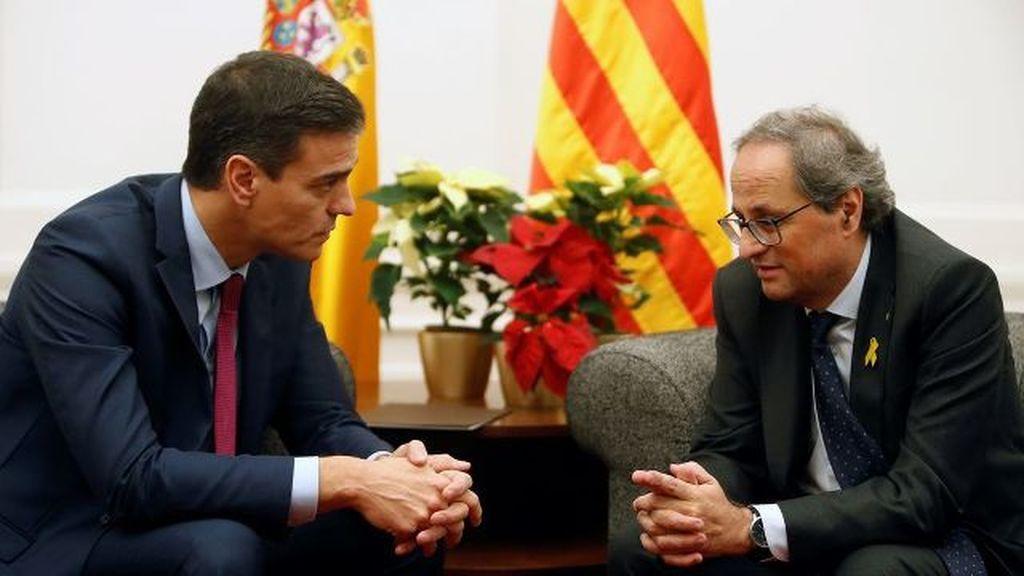 Sánchez anuncia una reunión con Torra la primera semana de febrero