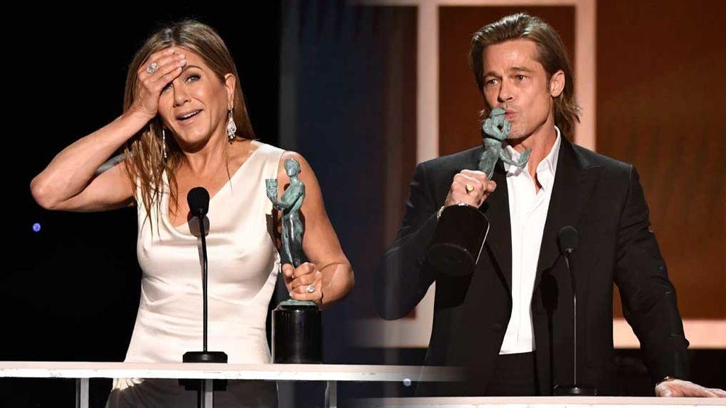 El reencuentro de Brad Pitt y Jennifer Aniston en la noche de los SAG Awards
