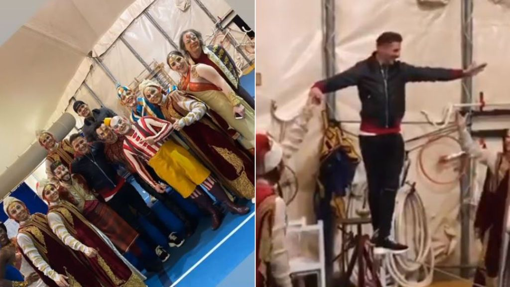 """El equilibrio de Joaquín en el Circo del Sol: """"Sin red de protección, ¡con dos cohones!"""""""