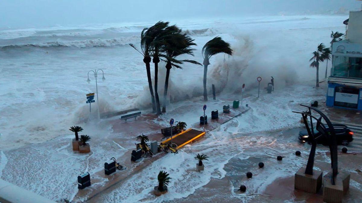 El temporal 'Gloria' rompe el récord con una ola de 8,44 metros en la boya de Valencia