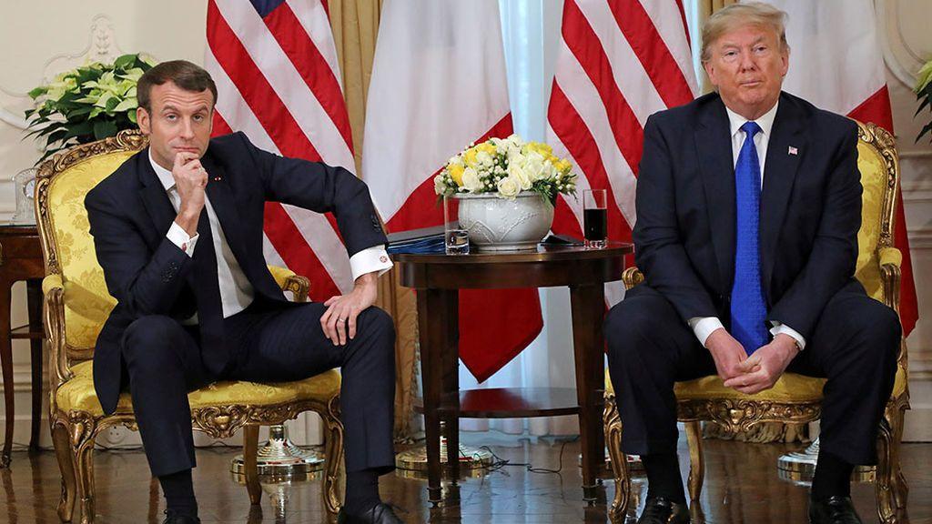 Macron y Trump pactan una tregua sobre la 'tasa Google'
