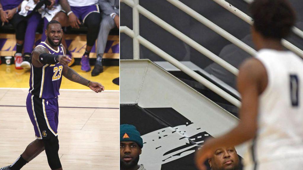 """LeBron James estalla tras el acoso que sufrió su hijo durante un partido: """"El odio no tiene edad"""""""