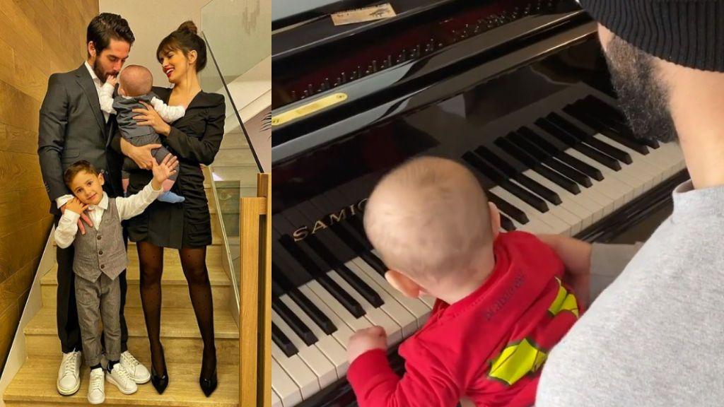 """Isco y su hijo felicitan el 'cumpleaños feliz' a Sara Sálamo con el piano: """"Ayer me tocaron a cuatro manos en do mayor"""""""