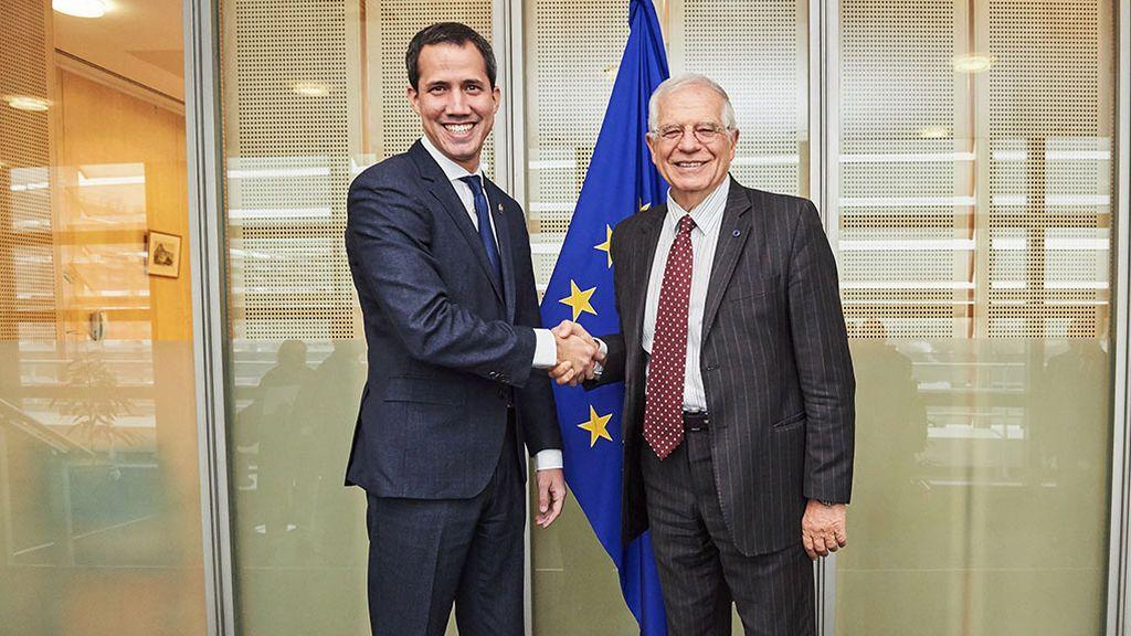 Guaidó pide a Europa más sanciones a Maduro