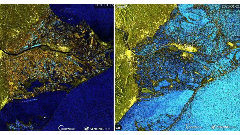 El Delta del Ebro engullido por el mar en las escalofriantes imágenes por satélite