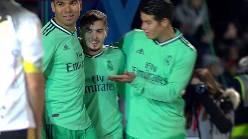 Brahim, casi sin querer, marca el segundo del Madrid ante Unionistas (1-2)