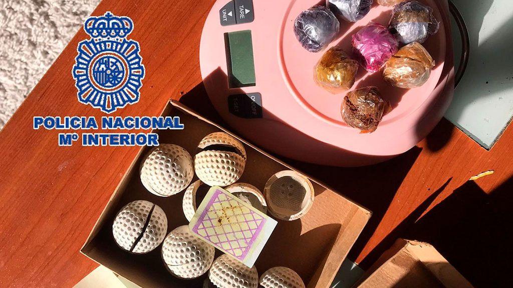 Heroína en pelotas de golf, la Policía arresta a dos hombres en Benalmádena