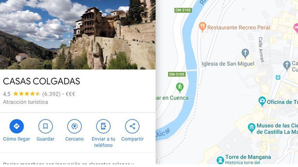 Un usuario de Cuenca hace rectificar a Google Maps
