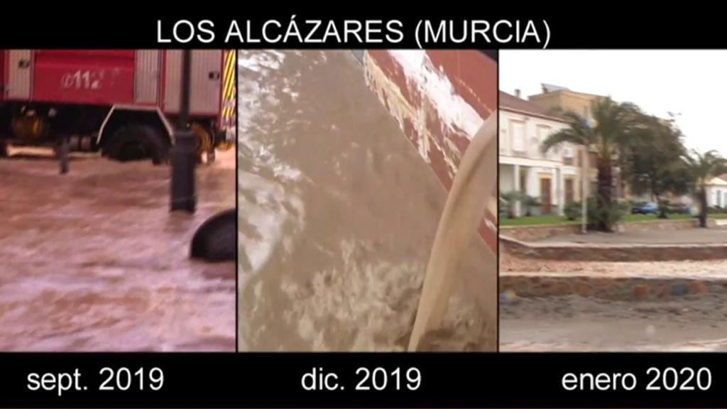 Los Alcazares se vuelve a inundar por tercera vez en cuatro meses