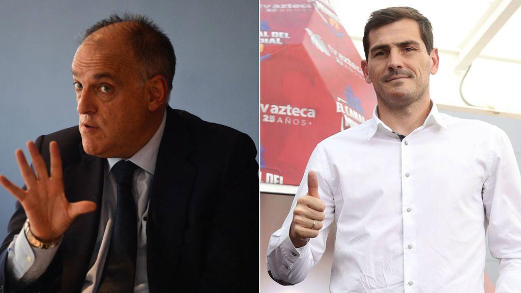 """Javier Tebas responde sobre la candidatura a la Federación: """"Prefiero a cualquiera antes que a Rubiales"""""""