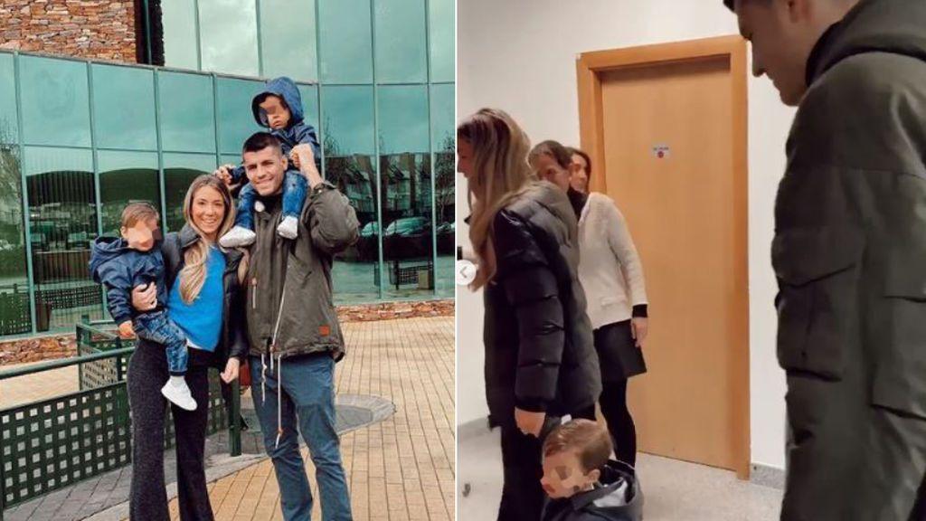 """El primer día de guardería de los hijos de Morata y Alice Campello: """"Me las arreglé para no llorar"""""""