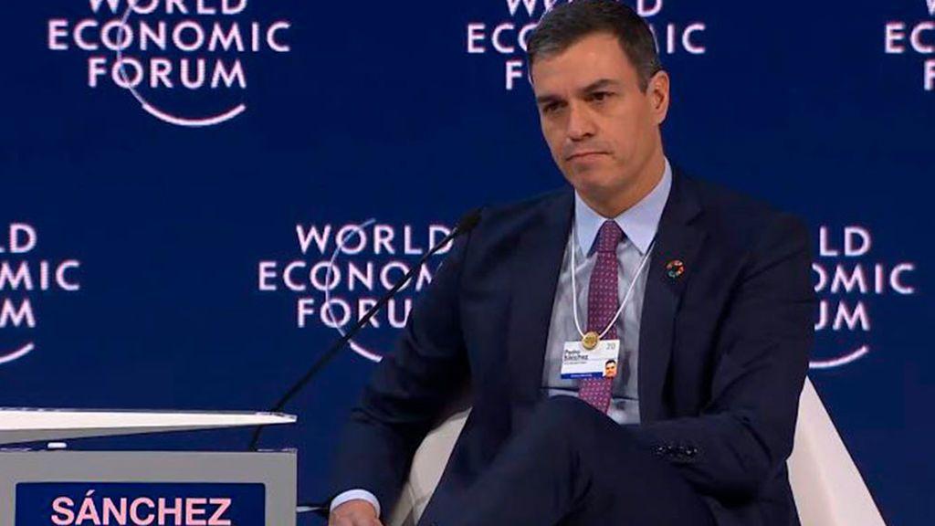 Pedro Sánchez en Davos
