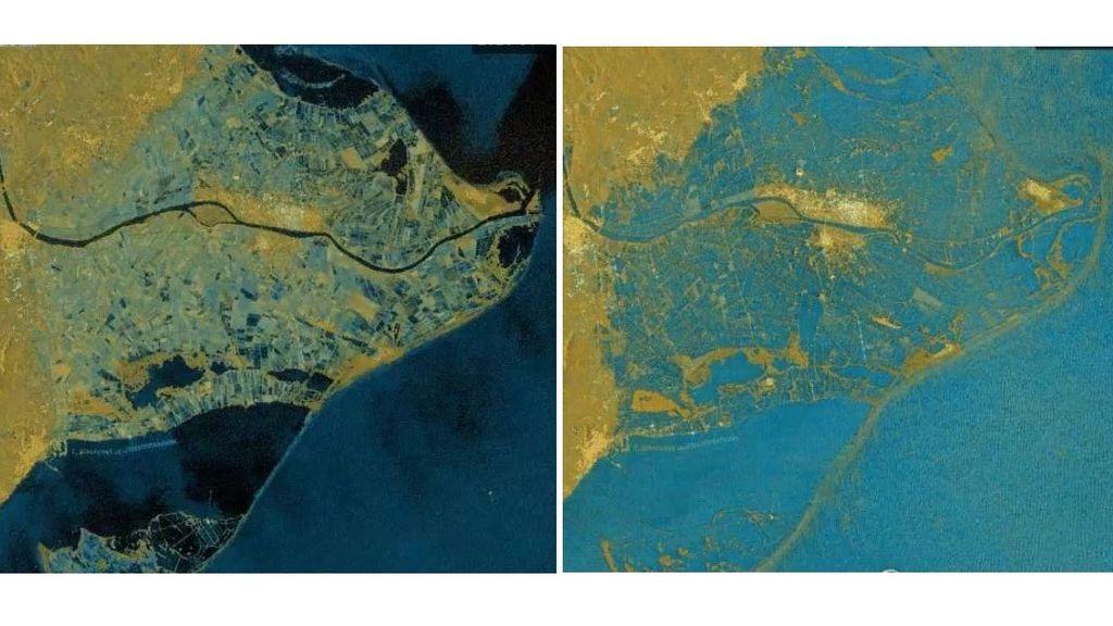 Desaparecen arrozales y playas bajo las inundaciones en el Delta del Ebro