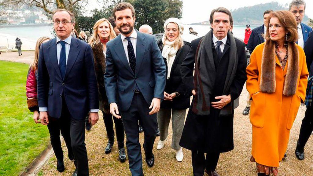 Casado, Aznar y Alonso llegan al homenaje a Gregorio Ordóñez