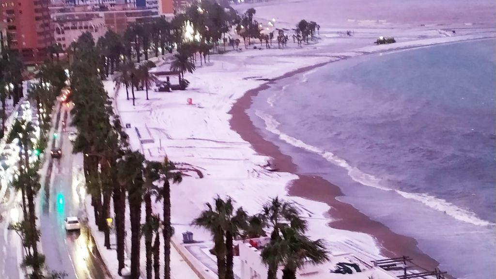Granizada en Málaga