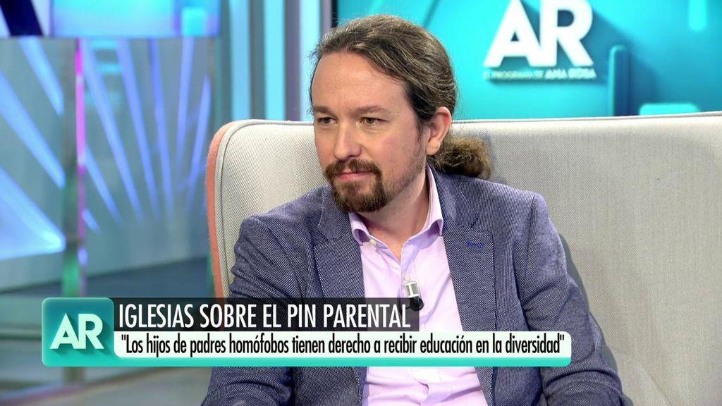 """Pablo Iglesias, sobre el 'pin parental': """"""""A los hijos los registramos en el registro civil, no en el de la propiedad"""""""