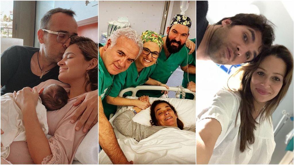 Cara de madre: Toñi Moreno y otros posados de las famosas con los bebés tras dar a luz