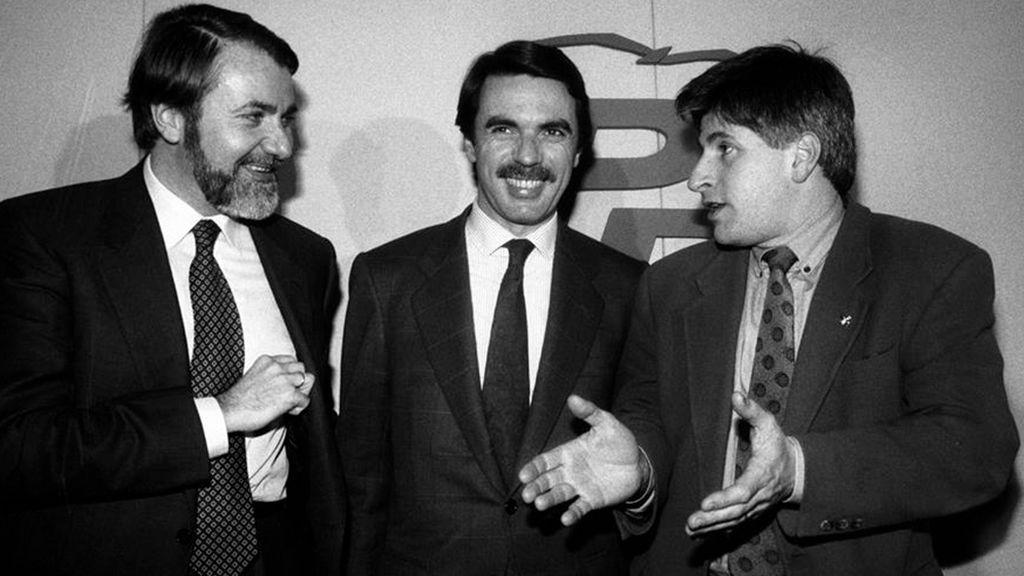 Aznar con Gregorio Ordóñez y Mayor Oreja en 1995