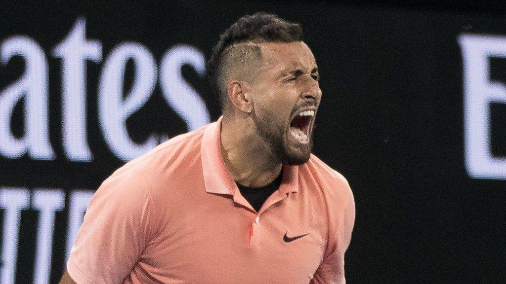 Kyrgios se burla de Rafa Nadal en pleno partido en Australia