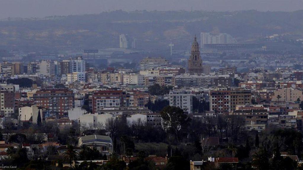 Una imagen que muestra el polvo africano en Murcia