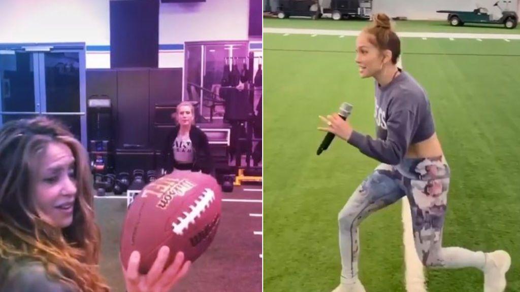 """El entrenamiento de Shakira y Jennifer López para la Superbowl: """"Intensificando los preparativos"""""""