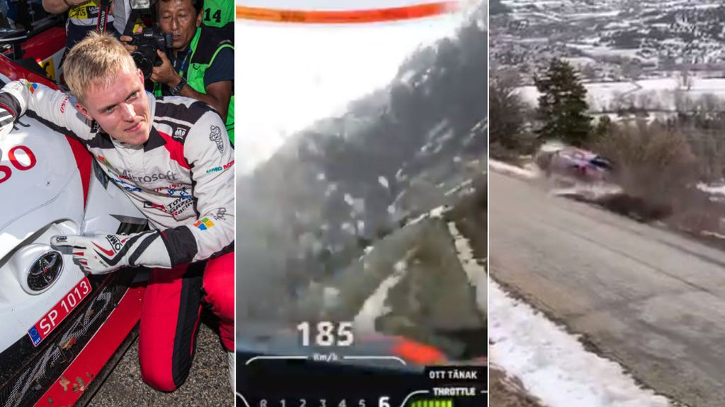 El campeón del mundo de rallyes, Ott Tanak, sufre un accidente a 185 kilómetros por hora y sale ileso