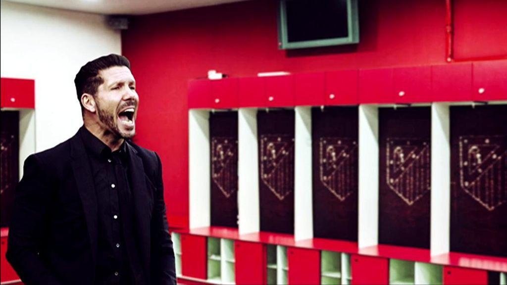 La charla de Simeone a sus jugadores en el vestuario