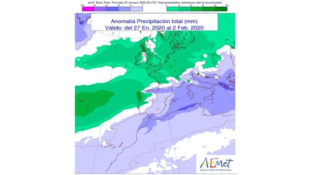 acumulac previsa lluvia semana prox