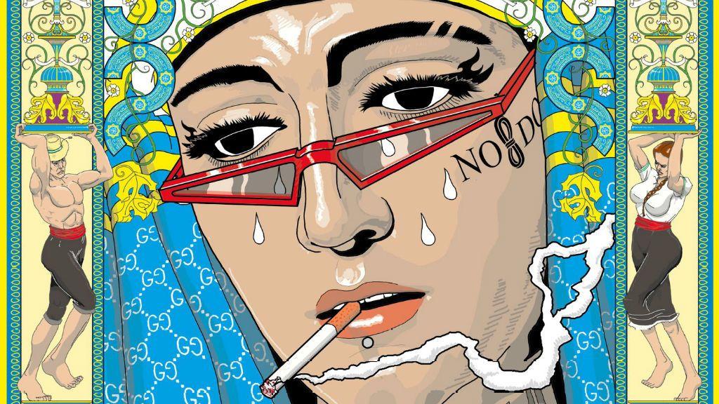 Gafas, tatuajes, piercing… y un cigarrillo: la imagen más atrevida de la Esperanza de Triana