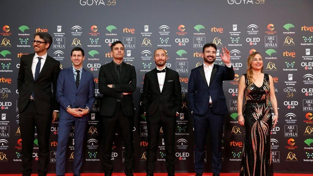 Los nominados a mejor cortometraje documental en la alfombra roja de los Premios Goya 2020