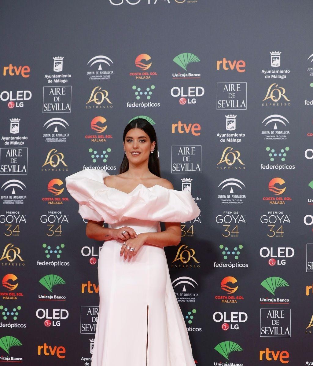 La influencer Aida Doménech 'Dulceida' en la alfombra roja de los Premios Goya 2020