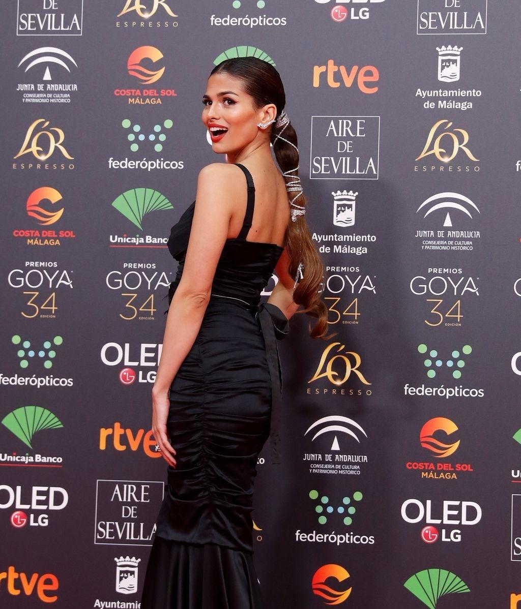 Sara Sálamo en la alfombra roja de los Premios Goya 2020