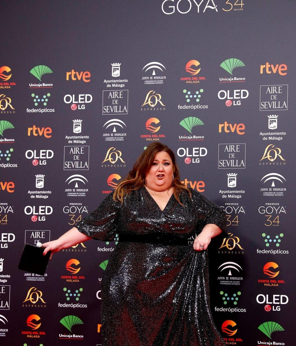 Itziar Castro en la alfombra roja de los Premios Goya 2020