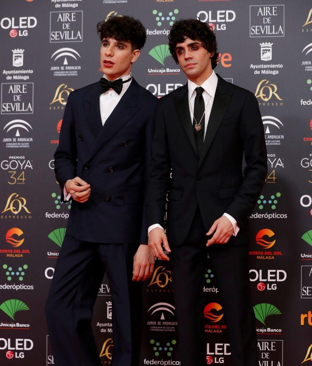 Javier Ambrossi y Javier Calvo en la alfombra roja de los Premios Goya 2020