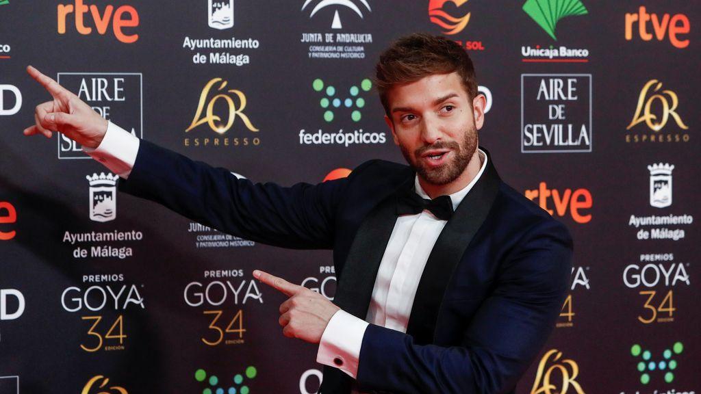 Pablo Alborán en la alfombra roja de los Premios Goya 2020