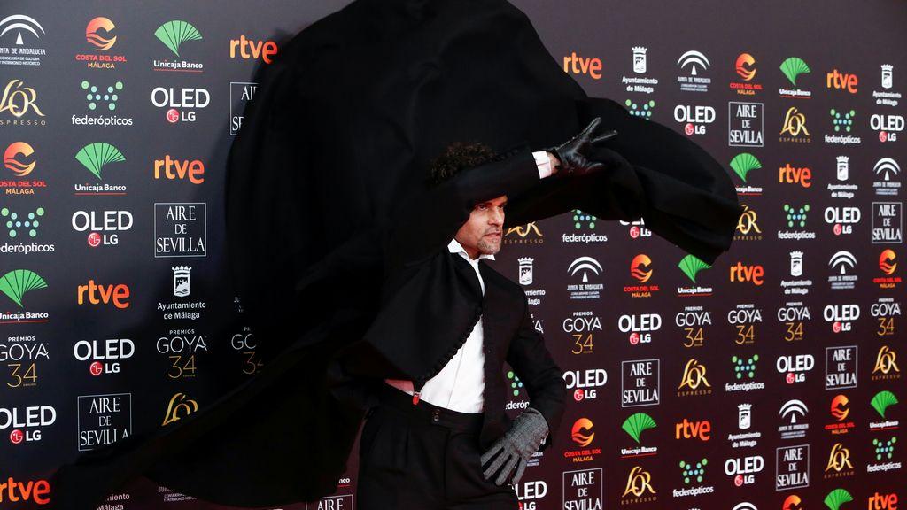 Antonio Najarro en la alfombra roja de los Premios Goya 2020