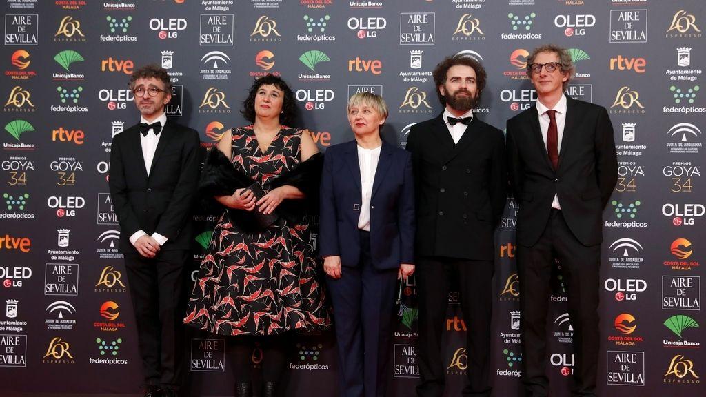 Los candidatos al Goya a mejor montaj en la alfombra roja de los Premios Goya 2020