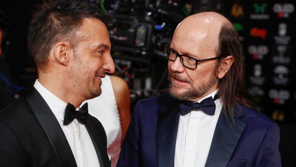 Alejandro Amenabar y Santiago Segura en la alfombra roja de los Premios Goya 2020