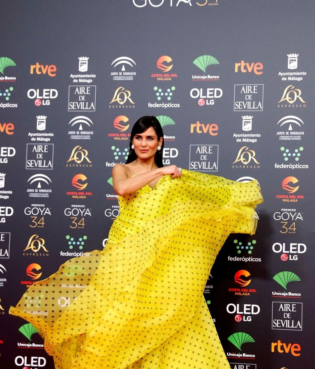 Elena Sánchez en la alfombra roja de los Premios Goya 2020