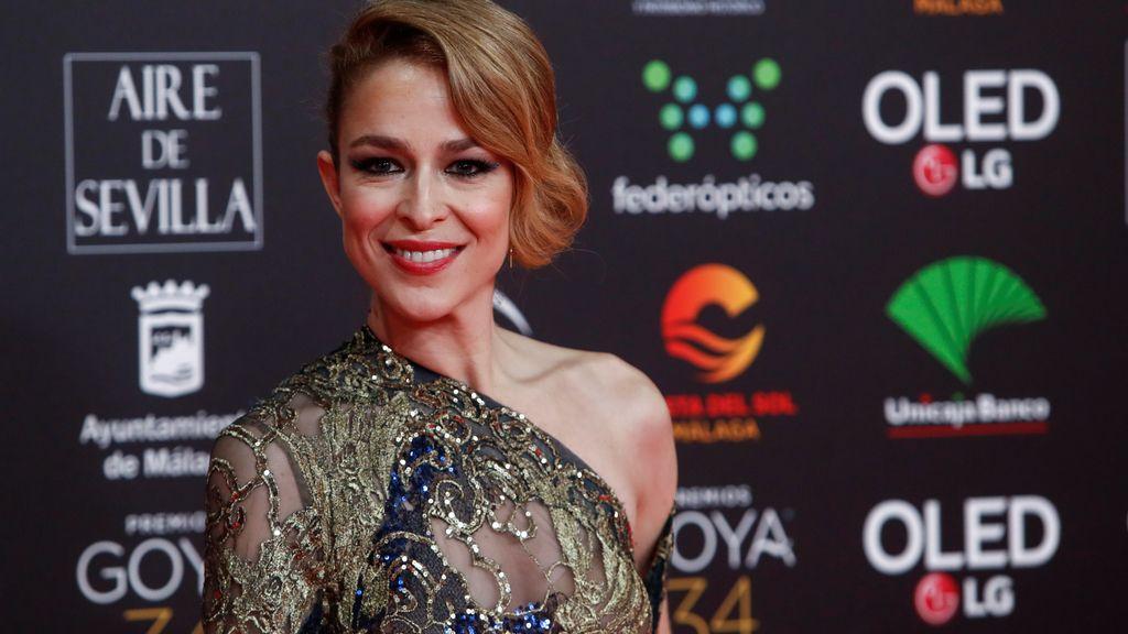 Silvia Abascal en la alfombra roja de los Premios Goya 2020