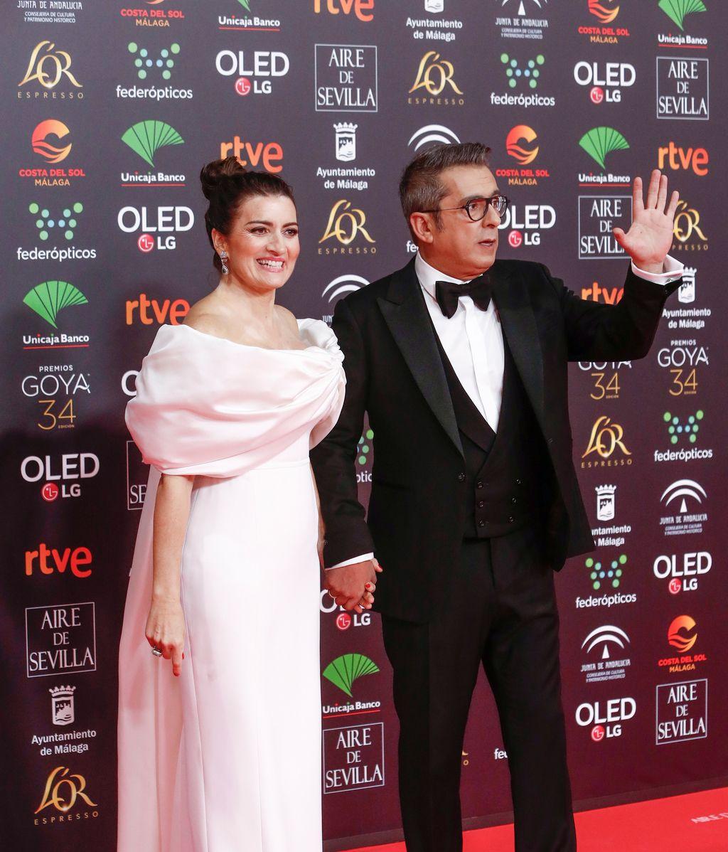 Silvia Abril y Andreu Buenafuente en la alfombra roja de los Premios Goya 2020
