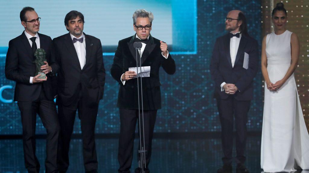 Manuel Cristóbal, Álex Cervantes y José María Fernández de Vega, reciben el Goya a la mejor película de animación por su trabajo en 'Buñuel en el laberinto de las tortugas'