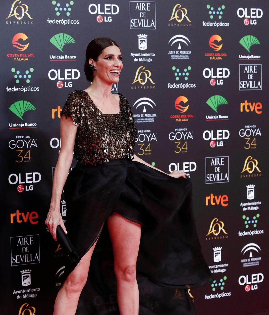 en la alfombra roja de los Premios Goya 2020